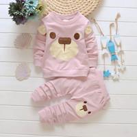 Wholesale Dog Girls Pants - 2016 Autumn kids clothes boy girl long sleeve T-shirt+pant set 2 pieces children dog pattern clothes suit cotton clothing