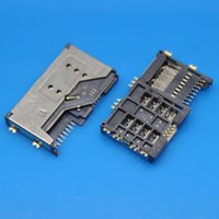 Wholesale Wholesale Lenovo A789 - Wholesale-10pcs lot SIM Card Slot Reader Holder Connector SIM Card Socket for Lenovo P70 A60 P700I A789 A65