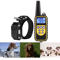 Wholesale Nb Black - 800M pet dog training collar electric shock collar for dogs IP7 diving waterproof remote control dog device charging LCD Display +NB