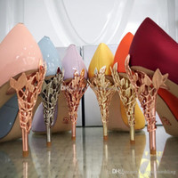 Wholesale Gold High Heels For Prom - 2017 burgundy gold pink blue white blush silk comfortable wedding shoes heels bridal shoes for wedding prom evening party shoes