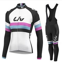 Wholesale Cheap Bicycle Pants - 2016 Cheap LIV Cycling Jerseys Set Women autumn Long Sleeve Bicycle Clothing and (none) bib pants Black Comfortable Cycling Kits