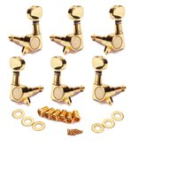 Wholesale Guitar 3r3l - 3R3L Guitar Tuning Pegs Tuners Machine Heads chrome Sunken Buttons Right Hand, Chrome Finish, for Acoustic Electric Guitar