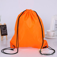 Wholesale 100pcs New Drawstring polyest fabric Tote bags waterproof Backpack folding bags Marketing Promotion drawstring shoulder bag shopping bags