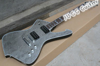Wholesale Mirror Right - Crack Mirror Rare Guitar Custom ICEMAN Paul Stanley Signature Electric Guitar Top Flame Shaped Tailpiece Abalone & White MOP Block Inlay