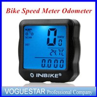 Wholesale Clock Bike - Cycling computers bicycle meter Clock Stopwatch Bike speedometer odometer computer waterproof Accessories LCD multi-function DHL free