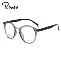 32655256f3440 Al por mayor-PSYCHE Llanura Gafas de Lectura Ultra-Ligero Marco Redondo Para  Gafas de Grado Femenino Gafas de Leopardo de La Vendimia Hombres Oculos  Grau ...