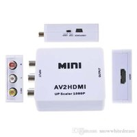 2016 Interfaz HDMI Mini HD Convertidor de Vídeo Caja HD A AV / CVSB Vídeo HDMI A AV Adaptador HDMI2AV Soporte NTSC y PAL Salida