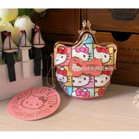 Wholesale Ladies Purse Model - Wholesale- Free Shipping 2016 News Crown Modelling The puzzle of the face Hello Kitty Coin Purse Korean cute lady bag have hasp