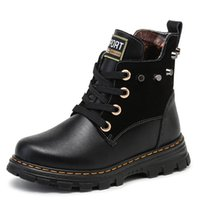 Wholesale Geniune Leather Boots - New Arrival Winter Baby Snow Boots Fashion Design Kids Geniune Leather Ankle Boots Girl Boy Warmer Children Martin Boots