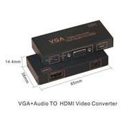 Convertisseur Moniteur Lcd Pas Cher-VGA Audio Video to HDMI Converter Ondersteuning HDCP Full HD 1080 p VGA naar HDMI LCD Monitor / DLP Project