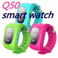 Wholesale Gps Kid Tracker Wristwatch - Q50 GPS Smart Kid Safe smart Watch SOS Call Location Finder Locator Tracker for Child Anti Lost Monitor Baby Son Wristwatch