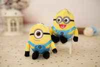 Wholesale Despicable Stuffed - Wedding Keychains wedding gift Movie Minions Plush Dolls Kevin Stuart 10cm Eyes Despicable Me 2 Stuffed Toys Favors for 2016 Christmas gift