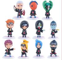 Wholesale Naruto Figure New - new hot sale 11pcs set anime figure PVC doll Naruto Akatsuki Pein conan Sasori Deidara Uchiha Itachi zetsu orochimaru 5cm gift for children