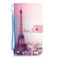 Wholesale Tower Mobile Cover - Cute Pattern Print tower smile aeolian bells Mobile Covers PU Leather Wallet TPU Shell case For LG Stylo 2 LS775 k4 k8