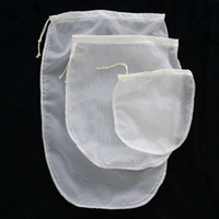 Wholesale nylon tea bags - Oval 3 size reusable milk tea fruit juice fine NYLON mesh strain filter bag E00297 CAD