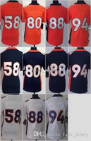 Wholesale Home Wares - Women Game Style #58 MILLER #88 THOMAS #94 WARE White Blue Orange Stitched Mix Order Home Road Jerseys Free Drop Shipping