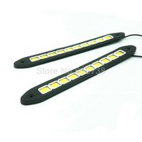 Wholesale Vw Led Daytime Running Lights - New Arrival High Power Flexible LED Daytime Running Light COB Day Lights Soft DRL Fit For Universal Cars Honda Toyota VW Ford
