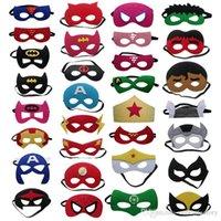 Wholesale Mens Captain Costume - Halloween Womens Mens Boys Girl Party Masks Costume Party Masks Cosplay Masks Superman Captain America Batman Felt Mask Wholesale Retail
