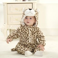 Wholesale 24 Month Girl Snowsuit - Newborn 2016 Baby Christmas Clothes Baby Girls Clothes Animal Baby Rompers Costume Winter Fleece Clothes For Boys Warm Snowsuit Jumpsuit