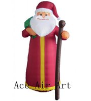 şişme kostümler toptan satış-Funny Christmas Santa Claus Inflatable Costume air Blow Up for Xmas