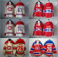 Wholesale autumn john - Autumn Winter Mens Sweatshirts Montreal Canadiens 67 Max Pacioretty 76 P.K. Subban Hockey Hoodie Stitched Jersey Hoodies