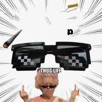 Wholesale Big Bite - 2017 Thug Life Glasses 8 Bit Pixel Deal With IT Sunglasses Unisex Sunglasses 14cm about Hot