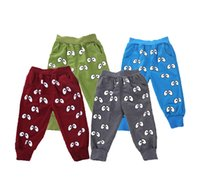 Wholesale Eyes Pants - 2016 brand boy pants sport cute eyes pattern baby boy trousers spring autumn cartoon toddler boys sports pants for baby clothes christmas