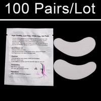 Wholesale Eye Pads For Extension - Super Cheap 100 pairs Bag Luxury Eye Patches Eye Pad For Eyelashes Extensions Makeup Tools and Accessories Stickers