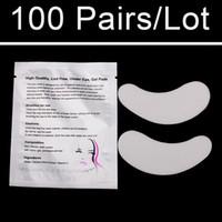 maquillage pour les yeux achat en gros de-Super Pas Cher 100 paires / Sac De Luxe Patchs Eye Pad Eye Pad Pour Cils Extensions Outils De Maquillage et Accessoires Autocollants
