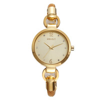 Часы Weiqin Brand New Fashion Lady Gold Women Top Brand Luxury Oval Clock Кварцевые наручные часы Casual Lady Gift