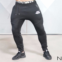 Wholesale Fitness Engineering - Wholesale-2016 new Gold Medal Sport Fitness pants, stretch cotton mens fitness jogging pants body engineers Jogger Outdoor Slim-type