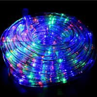 13 diâmetro venda por atacado-2 fios LED rodada corda de luz diâmetro 13 MM 36 leds / metro LEVOU Corda Luz 220 V 110 V para decoração lighiing Disco Bar Pub Festa de Natal