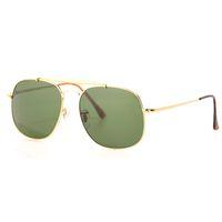 Wholesale Big Size Sunglasses - Highest quality Sports MEN Sunglasses Brand Designer General Sun glasses Big Size 57mm Alloy Frame Glass Lens with Original Leather Box 3561