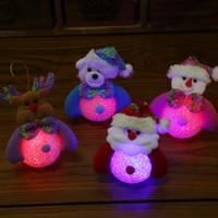 schöne rosa puppen groihandel-Schöne Weihnachtsweihnachtsdekorationen Weihnachtsgeschenke Bunter lichtemittierender Weihnachtsschneemann WeihnachtsSchneemannpuppe