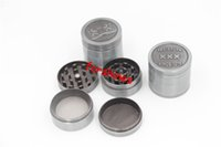 Wholesale Chinese Herbs Free Shipping - 6pcs lot free shipping USA UK 40mm 4 parts Metal Mini Herb Grinder Zinc Alloy Chinese Smoking Tobacco Grinder Herbal Spice Pollen Grinder