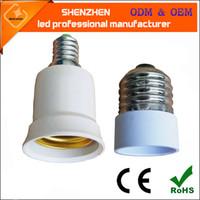 Wholesale E14 Light Bulb Base Socket - E27 to E14 Base LED Light Lamp Bulb Adapter Converter Screw Socket E14 To E27 Light Bulb Lamp Holder Socket Adapter Converter