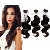 3pcs / Lot Indian Virgin Hair Hairwave Hair Extensão 100% Unprocessed cabelo humano tecelagem 7A Grau 1B #