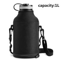 Wholesale Healthy Cup - 33oz Outdoor Water Bottle With Bag Stainless Steel Vacuum Healthy Sport Drinking Kettle Camping Bottle Drop Resistance Cups