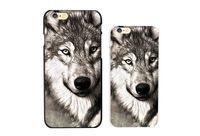 Wholesale Hard Plastic Case S2 - Wholesale Animal Wolf Pattern Phone Case For iPhone 5 5S 5C 6 6Plus 6S 6S Plus 7 7P Samsung Galaxy S2 S3 S4 S5 S6 Hard Plastic Case