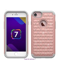 Wholesale Iphone Cover Bill - Luxury Billing Diamond Combo Cell Phone Protection Hybrid Case Cover For iphone 5 5s 6 6s 7 Plus Skin Shockproof