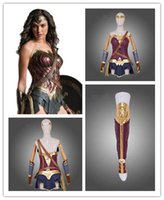 Wholesale Dawn Women - Wonder Woman Diana Prince Cosplay Costume Superman Dawn of Justice Cosplay Outfit Superhero Halloween Party Custom Made