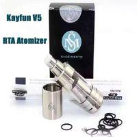 Wholesale V5 Free Dhl - 2016 Newest Kayfun V5 RTA Atomizer High Quality 1:1 Clone Kayfun 5   Kayfun Five Fit 510 box Mod DHL free ATB513
