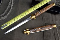 Wholesale Blade Figure - AKC 13 Inch Black Horn Figured Sycamore Handle 440C Camping Collecting Hunting Knife Knives Tactical Hiking Knives F14L