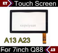 ingrosso sostituzione tablet touch touch screen-Sostituzione brandnew di vetro dell'esposizione del touch screen di 50PCS per il PC del ridurre in pani di 7 pollici Q88 Q8 A33 A23 di 7 pollici