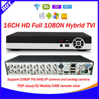 Wholesale Dvr Channel 3g Wifi - Good HD 16CH 1080N CCTV TVI recorder p2p cloud 16 Channel 1080P Hybrid TVI AHD HVR DVR NVR 5 in 1 Security DVR with 3G+WIFI+xmeye app