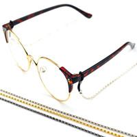 antideslizante para gafas al por mayor-3 unid Gafas de lectura Antideslizante Cordón de la cadena Cordones Gafas de sol Gafas Cadena de metal precio al por mayor barato envío gratuito