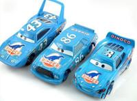 Wholesale Hicks Pixar - 3Pcs Cars Pixar Dinoco Set 86 Chick Hicks King Diecast 1 55 Models Kids Toys Car Toys For Children Gift Lightning McQueen
