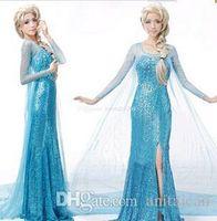 Wholesale Top Selling Adult Costumes - 2015 Top Selling Halloween Costumes Frozen Costum Frozen Princess Elsa Dresses Costume Adult Cosplay for Women Fantasia Elsa Frozen Custom