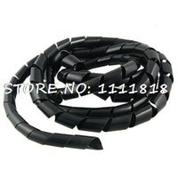spiral wrap black - M Ft PE Polyethylene Spiral Cable Wire Wrap Tube Black mm