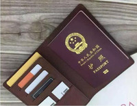 Wholesale Mens Passport Holder - Mens Fashion Classic Design Casual Passport Credit Card ID Holder Hiqh Quality Real Leather Ultra Slim Wallet Packet Bag For Mans   Womans
